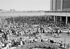 Historic photo from MLK march in Detroit on June Mlk March, June, Detroit History, Detroit Michigan, Great Lakes, Historic Homes, Abandoned Places, Historical Photos, American History
