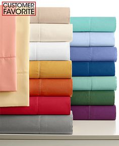 Charter Club Damask Solid 500 Thread Count Extra Deep Pocket Sheet Sets - Sheets - Bed & Bath - Macy's Bridal and Wedding Registry - I like the coral-y pink