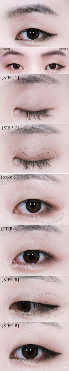 Monolid winged eyeshadow