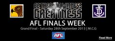 In the lead up to the Australian Football League Grand Final on Saturday September catch all the footy fever during AFL Grand Final Week. Australian Football League, West Coast Eagles, Western Bulldogs, Finals Week, St Kilda, Melbourne, Places, Lugares