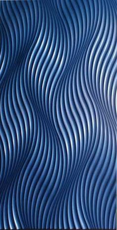 MDF carved panels to add texture & flow Volta™ artistic dimensional panels courtesy of Marlite, Inc. 3d Pattern, Surface Pattern, Pattern Design, 3d Texture, Texture Design, Blue Texture, Line Patterns, Textures Patterns, Op Art