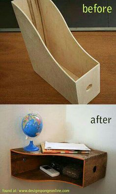 Cute DIY nightstand idea.