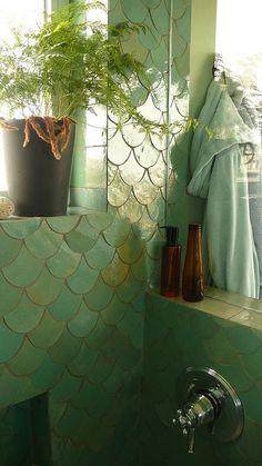 Mermaid tile #home #decor