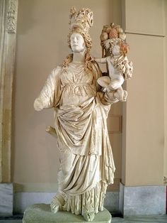 Goddess of good luck, personifying fortune Marble Prusias Ad Hypium Roman, 2nd century AD