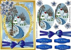 A lovely card front to make and give to anyone at Christmas Lovely Christmas…
