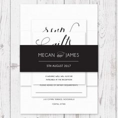 Coloured or Kraft Coordinating Wedding Belly Band Wrap Invitation Ties Professionally Printed | Peach Perfect Australia