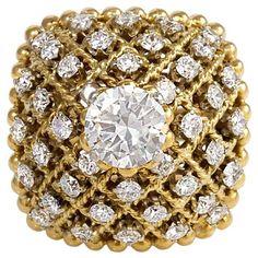 Rosamaria G Frangini   High Golden Jewellery   1960s Van Cleef & Arpels Diamond Cocktail Ring.