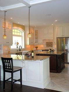 painted :: shaker door style #kitchen #cabinets #painted