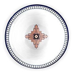 Q Squared Palazzo Melamine Cereal Bowl, 6-1/2-Inches, Set of 4, Blue and Salmon Pink