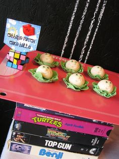 80s party cabbage kids cake balls