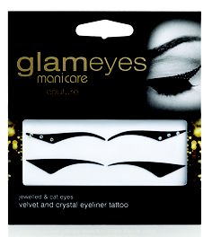 Ready For Anything – Chic elegant smart gorgeous glam dazzling.  MANICARE GLAM EYES COUTURE.  Velvet and crystal eyeliner tattoo adds an instant dramatic and glam look to your eyes. Easy to apply, easy to remove. Delivering a runway inspired look! RRP $9.99.
