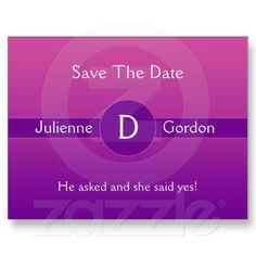 Pink and Magenta Purple Gradient Save The Date