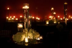 vintage wedding candle centerpieces