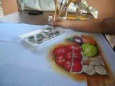Como pintar tomates em uma fruteira de vidro - How to paint tomatoes in ...