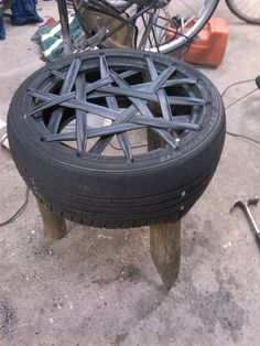 recycled stool of a tire