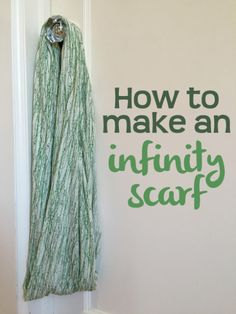 How to make an inifinity scarf for nursing