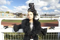 A day at the races. #Cheltenham #LadiesDay Dress: WTF Vintage, Hat: Katherine Elizabeth #Millinery