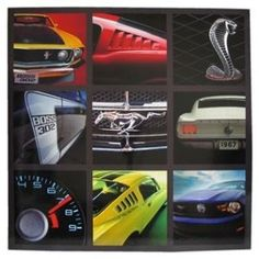 This #Ford #Mustang theme wall plaque will delight any muscle car enthusiast.: