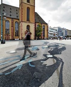 Ghostly Shadows Weave Like a River Through Frankfurt - My Modern Metropolis