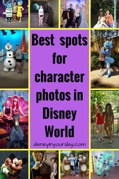 Where can you meet some of your favorite Disney characters?  Be sure to chekc out this list of the best spots for character photos and meet and greets!