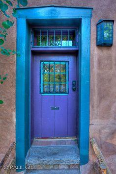 Santa Fe purple door all i see is tardis- every blue door. & 906 | Santa fe Fe and Santa