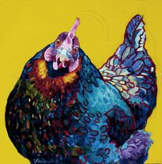 chicken painting - Google Search