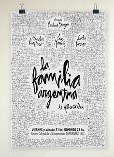 Poster Design / La Familia Argentina / Afiche de Teatro