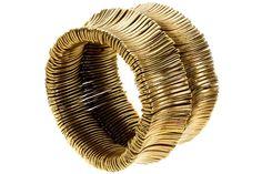 Bracelet Sas, dorure à l'or fin, Ø60mm Metal Pointu's