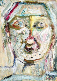 Tóth Menyhért (1904-1980) Fej Art, Painting, Portrait