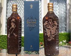 COLLECTOR's ITEM Crystal Bottle of Johnnie Walker Blue Label Whisky