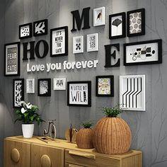 Family Wall Decor, Diy Wall Decor, Diy Home Decor, Wall Decorations, Frame Decoration, Letters On Wall Decor, Photo Wall Decor, Decor Room, Living Room Decor