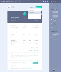 Course detail page? Options dropdown for multiple actions? Invoice Design, Mobile Web Design, Web Ui Design, Invoice Template, Dashboard Design, Flat Design, Design Design, Analytics Dashboard, Design Thinking