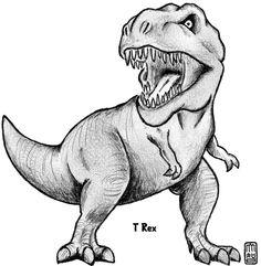dibujos dinosaurios para colorear del t rex educacion dinosaurio