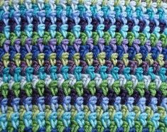hdc ch 1; simple pattern, looks woven Love this!  Great stitch for a man's afghan. by Michellena