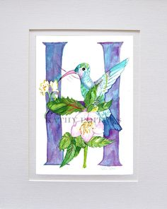 Greeting Card Birthday Card Letter P For Peacock And Pear Tree