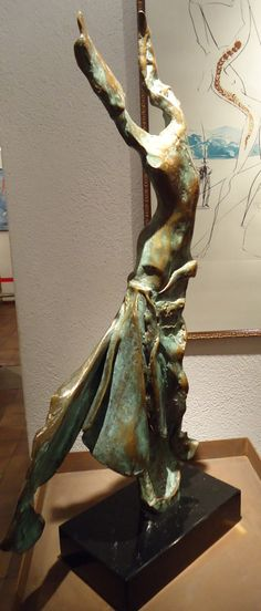 """Salvador Dali """"Terpsichore: Muse of te Dance"""" prestige-scale bronze @RCercleArtistic"""