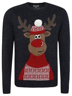 Cute Christmas Jumper - Christmas Rudolph Jumper | Men | George at ASDA