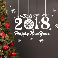 provide 2018 wall window glass sticker happy new year decal gift snowflake charm memory in high quality, cute removable wall decals nursery and classical removable wall decals quotes for you to choose, use removable wall decor to decorate your walls. Wall Stickers Home Decor, Nursery Wall Decals, Diy Christmas Gifts, Merry Christmas, Christmas 2017, Navidad Diy, Removable Wall Decals, Window Decals, Xmas Decorations