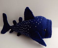Whale Shark - Free Amigurumi Pattern here: http://amidorablecrochet.blogspot.co.uk/2014/03/whale-shark-pattern.html