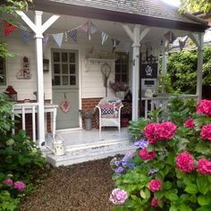 Bunting Banner, Banners, Garden Studio, Beautiful Morning, Pergola, Bloom, Cozy, Outdoor Structures, Cabin