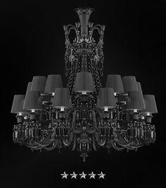 Foyer Chandelier, Chandeliers, Grand Foyer, Black Crystals, Favorite Color, Shades, Ceiling Lights, Pattern, Design