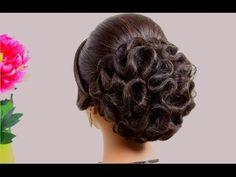 ▶ Hairstyles for medium hair. Updo hairstyles. Bridal wedding hairstyles - YouTube