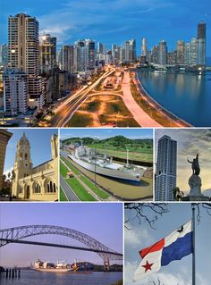 Glittering Skylines of Panama, new Panama City, old, canal