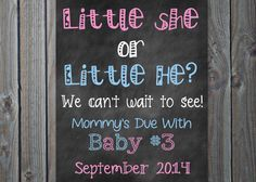 Announcing baby number three