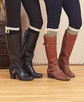 Sets of 2 Embellished Boot Cuffs