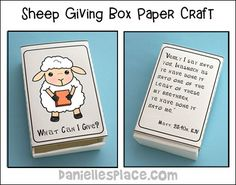 """Sheep Giving Box Craft for """"Sheep or Goat?"""" Bible Lesson for Children's Ministry"""