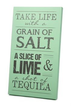 Mint and Dark Gray Tequila Art Panel by Twelve Timbers on @HauteLook