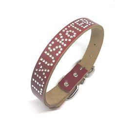 In liebevoller Handarbeit veredelte Lederhalsbänder von Angi&Sue Belt, Accessories, Fashion, Handarbeit, Pet Dogs, Belts, Moda, La Mode, Fasion