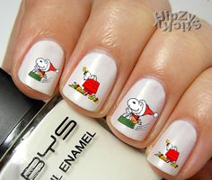 20 Christmas Snoopy Clause Set 5 Quality Water Slide Transfer Nail Art Decals