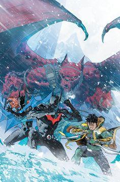 Batman Beyond by Dan Mora * Batman Beyond, Damian Wayne, Batwoman, Batgirl, Comic Books Art, Comic Art, Dan Mora, I Am Batman, Batman Art